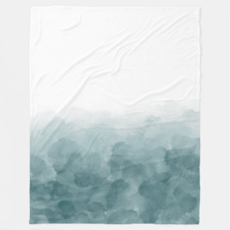 Cobertor De Velo Aguarela tropical do azul da cerceta