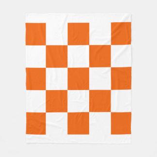 Cobertor De Velo Alaranjado e branco Checkered