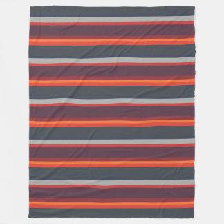 Cobertor De Velo Alaranjado moderno do por do sol listrado das
