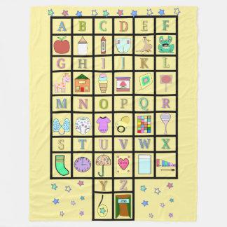 Cobertor De Velo Alfabeto | Babv adulto | Baby4life de ABDL