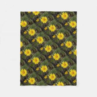 Cobertor De Velo Amarelo do cu da flor da margarida