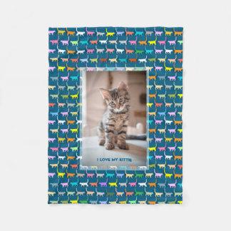 Cobertor De Velo Ame meu gatinho sua cerceta feita sob encomenda do
