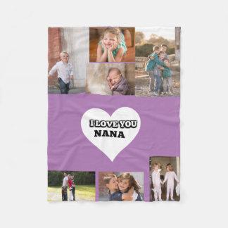 Cobertor De Velo Ame-o Nana dentro de um coração