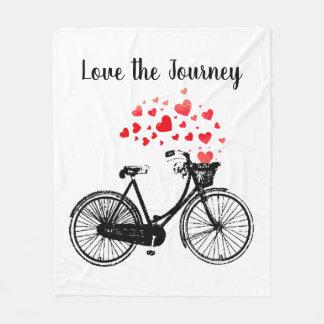Cobertor De Velo Ame os corações inspirados da bicicleta do vintage