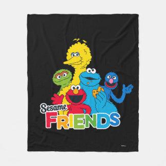 Cobertor De Velo Amigos do sésamo do Sesame Street  