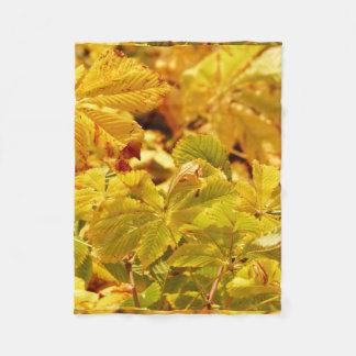 Cobertor De Velo Amor amarelo da cor do outono