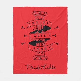 Cobertor De Velo Amor da arte da dor de Frida Kahlo |