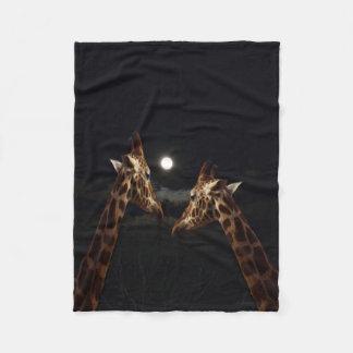 Cobertor De Velo Amor do girafa no luar, pequeno