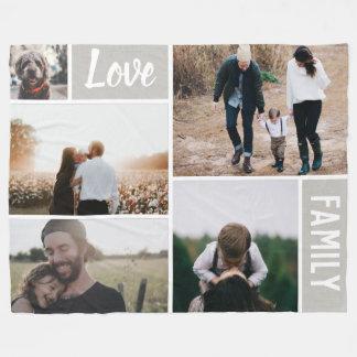 Cobertor De Velo Amor e colagem da foto de família