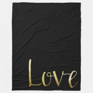 Cobertor De Velo Amor Glam preto do ouro