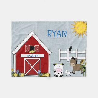 Cobertor De Velo Animais de fazenda, cavalo, vaca, cordeiro