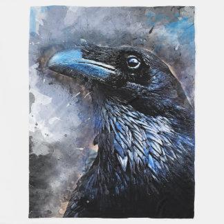 Cobertor De Velo #animals do #bird do #crow da arte do corvo
