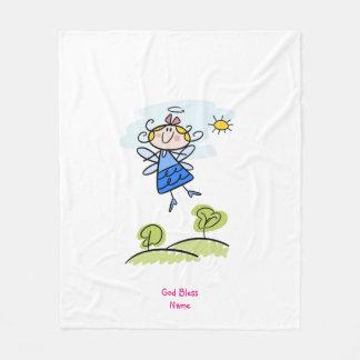 Cobertor De Velo Anjo bonito do Goddaughter personalizado