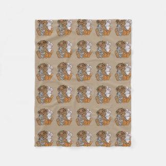 Cobertor De Velo Anjo do urso com gatinhos