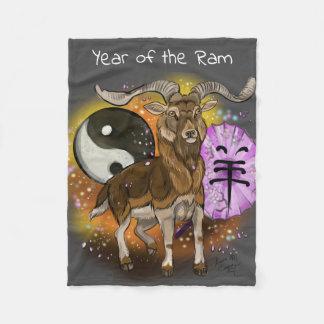 Cobertor De Velo Ano chinês da ram