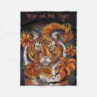 Cobertor De Velo Ano chinês do tigre