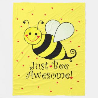 Cobertor De Velo Apenas o amarelo impressionante da abelha Bumble