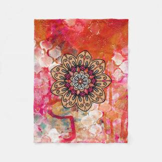 Cobertor De Velo Aqueça a cobertura colorida do velo da mandala da