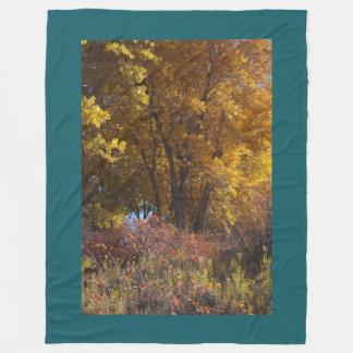 Cobertor De Velo Aquecedor dourado do regaço das madeiras