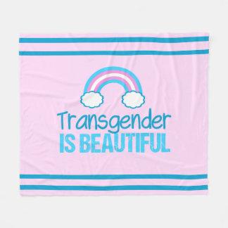 Cobertor De Velo Arco-íris bonito do Transgender