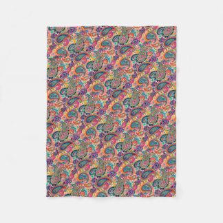 Cobertor De Velo Arco-íris brilhante Paisley