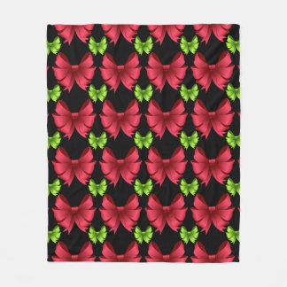 Cobertor De Velo Arcos vermelhos e arcos verdes no preto