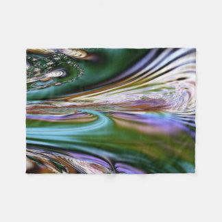 Cobertor De Velo Arte abstrata do Fractal do Seashell
