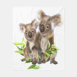 Cobertor De Velo Arte animal australiana pequena bonito do urso de