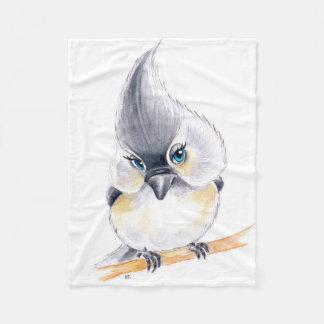 Cobertor De Velo Arte bonito do Titmouse