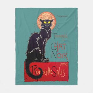 Cobertor De Velo Arte do gato de Vintage Tournee Du Conversa Noir
