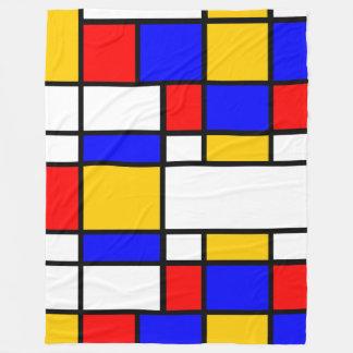 Cobertor De Velo Arte estilo Mondrian