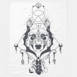 Cobertor De Velo arte legal do design do cão