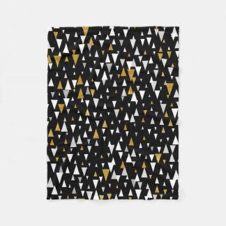 Cobertor De Velo Arte moderna do triângulo - ouro preto