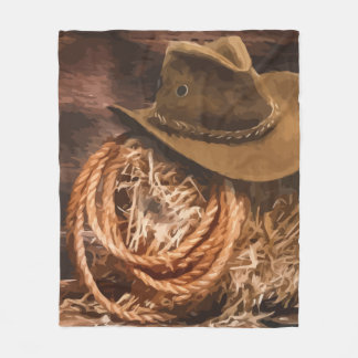 Cobertor De Velo Arte ocidental do cavalo do laço do chapéu de