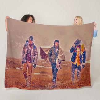 Cobertor De Velo Arte ocidental velha do acrílico dos vaqueiros