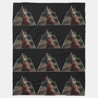 Cobertor De Velo Arte salpicada do Popout do galo, cobertura do