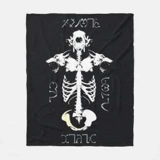 Cobertor De Velo Arte tribal do Grunge do homem-lobo do crânio de