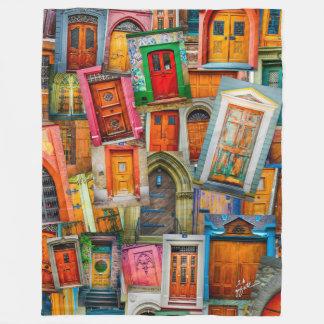 Cobertor De Velo Artístico moderno colorido original das portas