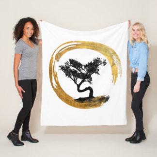 Cobertor De Velo Árvore dos bonsais. Círculo de Enso do zen. Arte