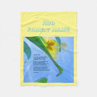 Cobertor De Velo As gravatas de família - adicione seu nome - tosam