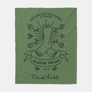 Cobertor De Velo Asas de Frida Kahlo | a voar