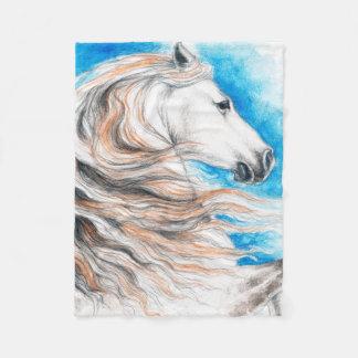Cobertor De Velo Azul andaluz do cavalo
