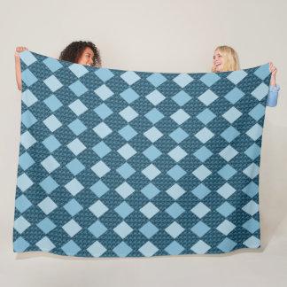 Cobertor De Velo Azul--Cobertura do velo da Diamante-Caminhada-L-ii