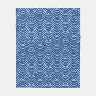 Cobertor De Velo Azul e Taupe de China do teste padrão de onda