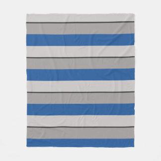 Cobertor De Velo Azul e Taupe Multi-Listrados de China