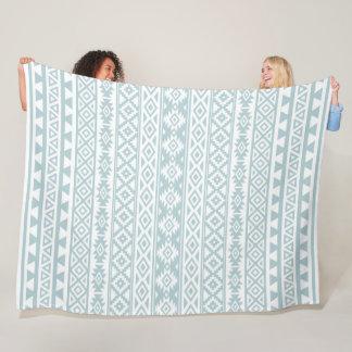 Cobertor De Velo Azul estilizado asteca & branco do ovo do pato do