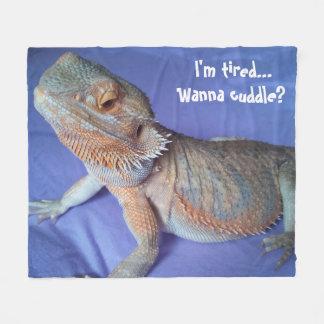 Cobertor De Velo Azul farpado cansado adorável da imagem do dragão