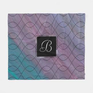 Cobertor De Velo Azul roxo | da cerceta do rosa visionário do