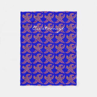 Cobertor De Velo azul roxo de Thunder_Cove da estrela do mar