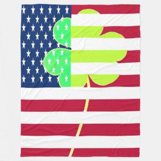 Cobertor De Velo Bandeira americana do trevo de St Patrick EUA